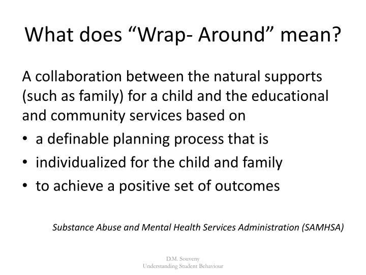 """What does """"Wrap- Around"""" mean?"""