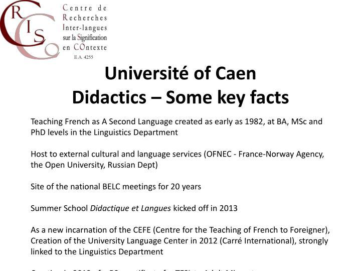 Université of Caen