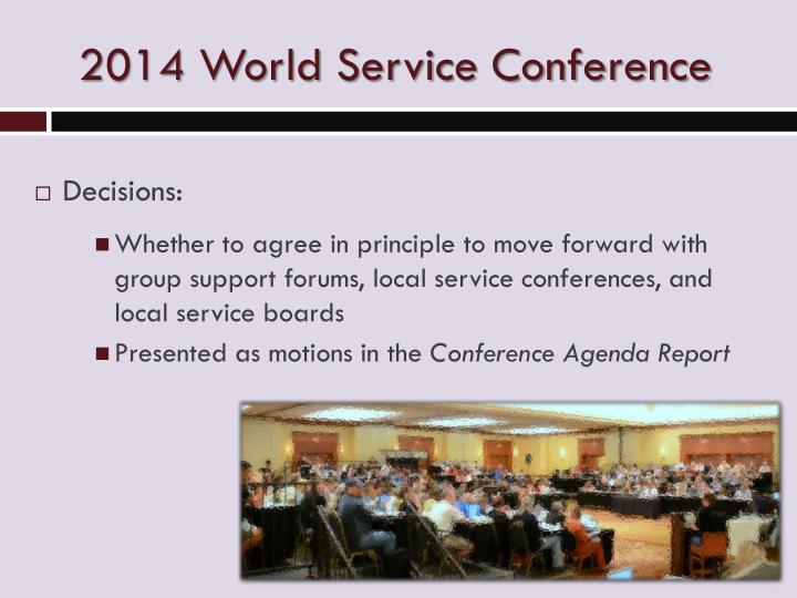 2014 World Service Conference