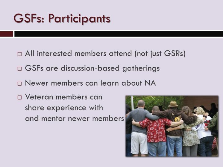 GSFs: Participants