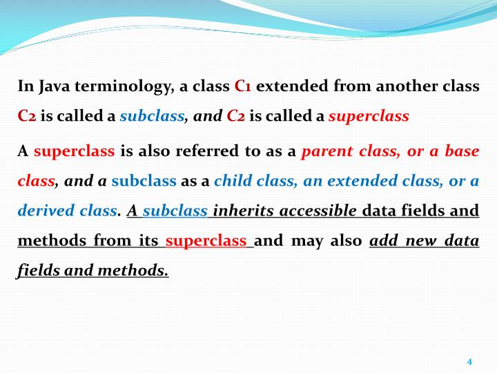In Java terminology, a class