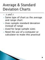 average standard deviation charts