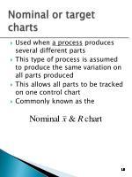 nominal or target charts