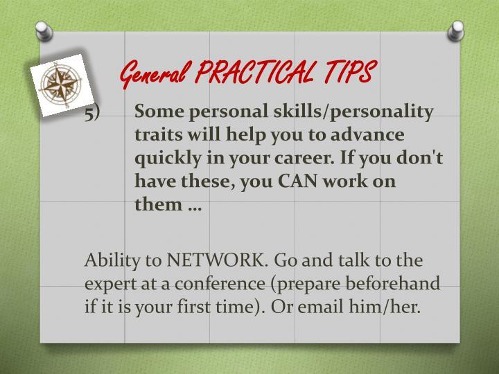 General PRACTICAL TIPS