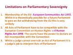 limitations on parliamentary sovereignty