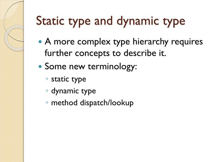 Static type and dynamic type