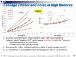 leakage current and noise at high fluences