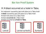 bar ilan proof system