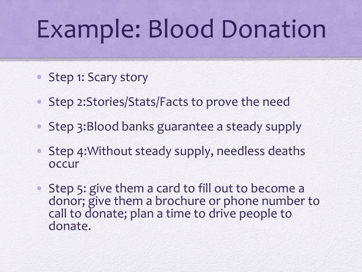Example: Blood Donation
