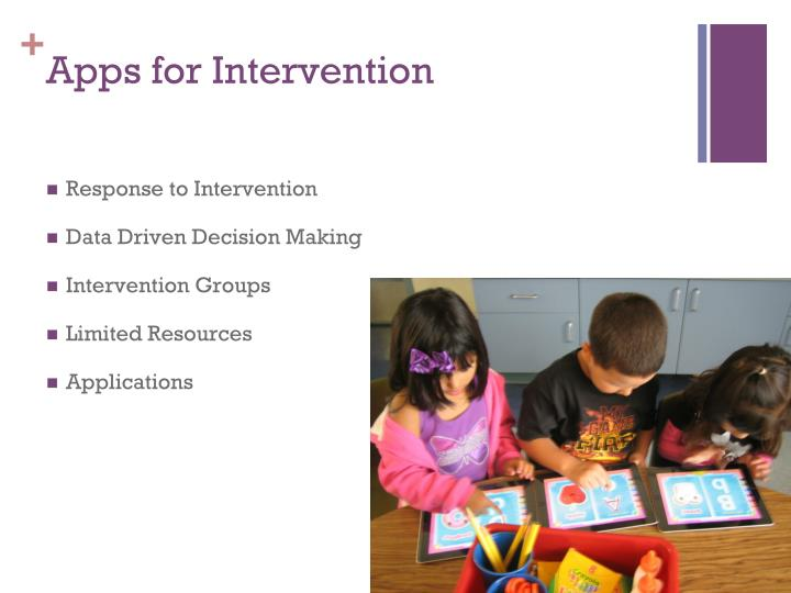 Apps for Intervention