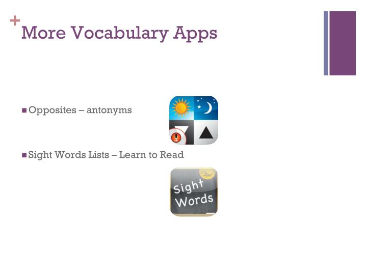 More Vocabulary Apps