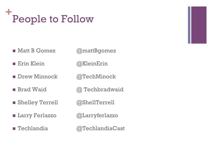 People to Follow