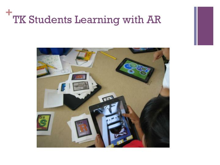 TK Students Learning with AR