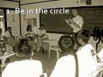 1 be in the circle