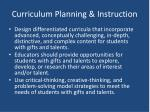 curriculum planning instruction