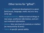 other terms for gifted
