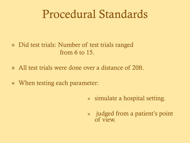Procedural Standards