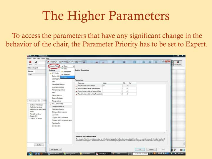 The Higher Parameters