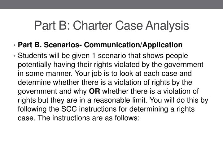 Part b charter case analysis
