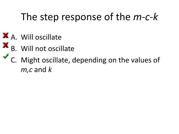 The step response of the