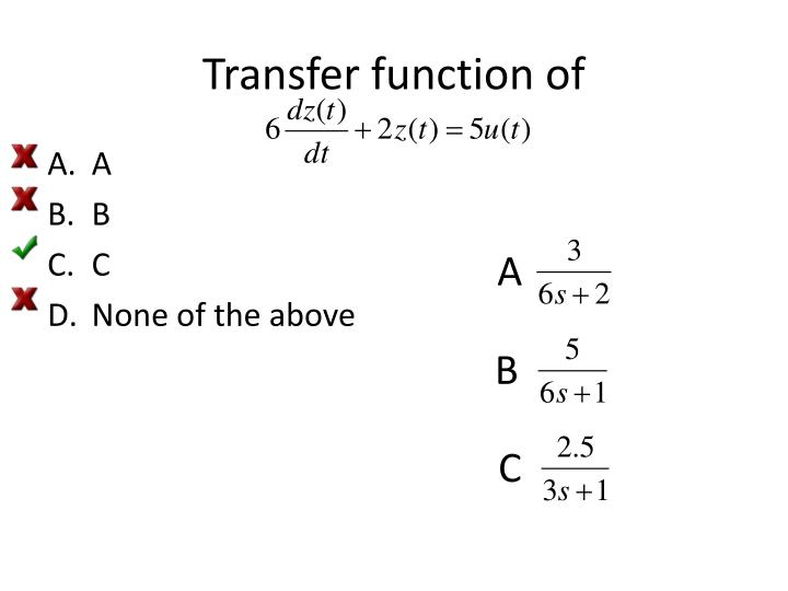 Transfer function of