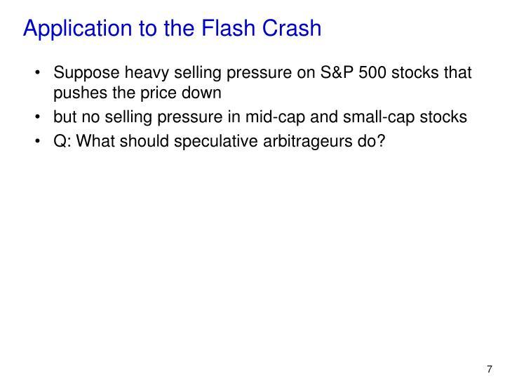 Application to the Flash Crash