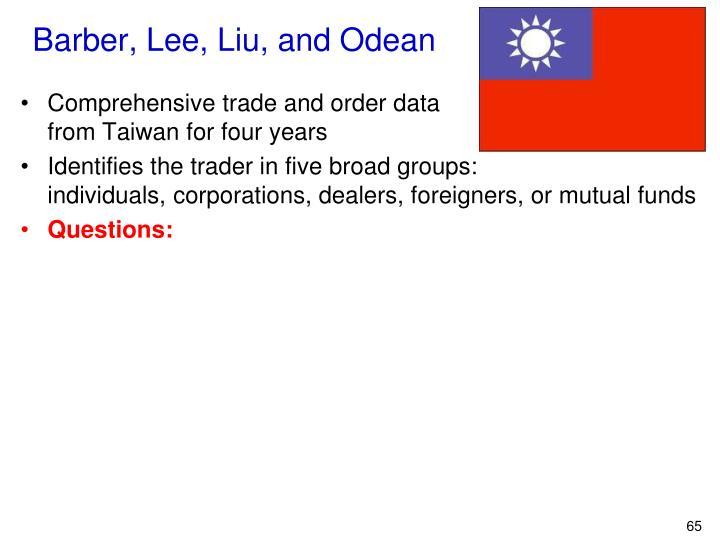 Barber, Lee, Liu, and