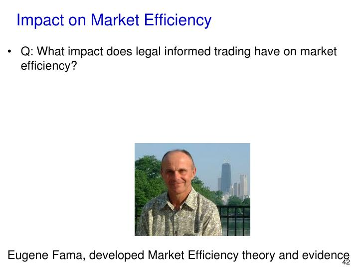 Impact on Market Efficiency