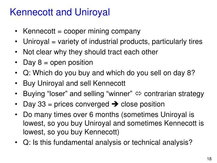 Kennecott and Uniroyal