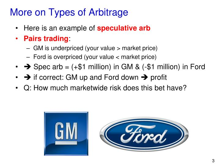 More on Types of Arbitrage