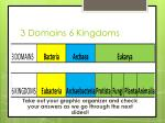 3 domains 6 kingdoms