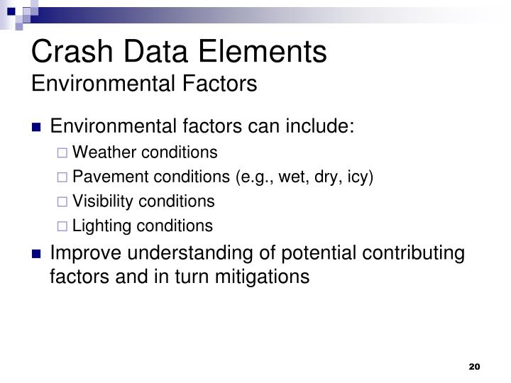 Crash Data Elements