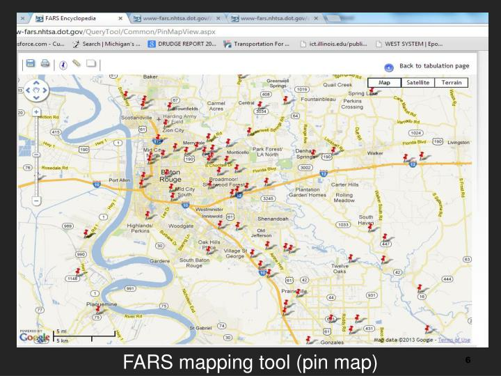 FARS mapping tool (pin map)