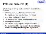 potential problems 1