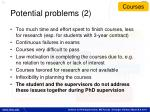 potential problems 2