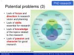 potential problems 3
