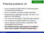 potential problems 4