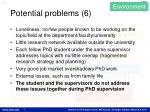 potential problems 6
