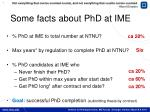 some facts about phd at ime