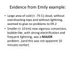 evidence from emily example