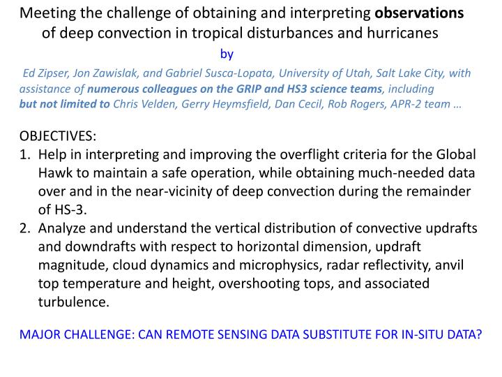 Meeting the challenge of obtaining and interpreting