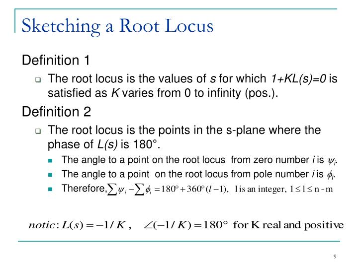 Sketching a Root Locus