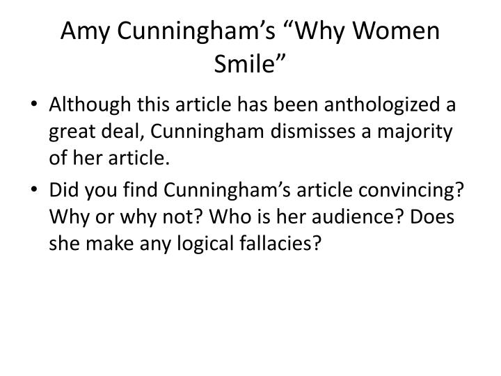 """Amy Cunningham's """"Why Women Smile"""""""
