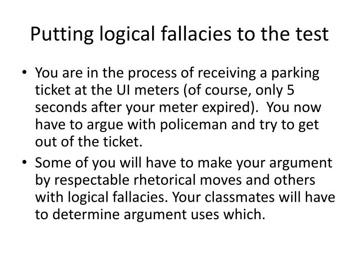Putting logical fallacies to the test