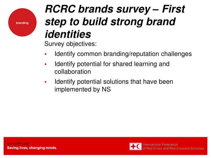 RCRC brands survey – First step to build strong brand identities