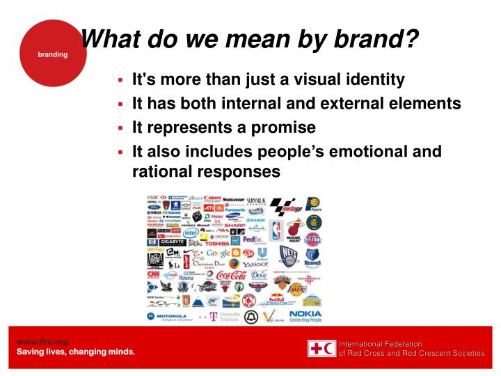 What do we mean by brand?