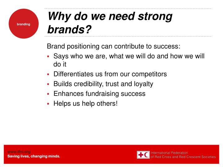 Why do we need strong brands?