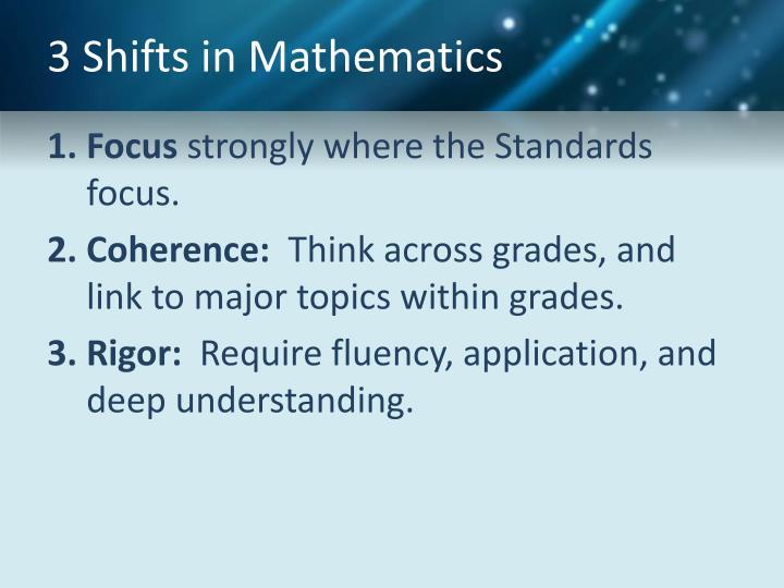3 Shifts in Mathematics