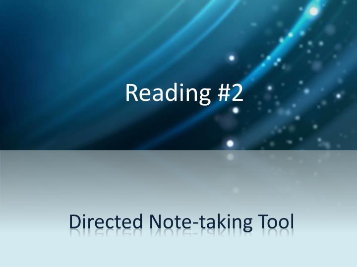 Reading #2