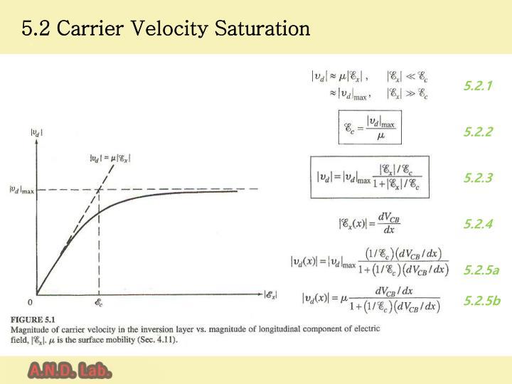 5.2 Carrier Velocity